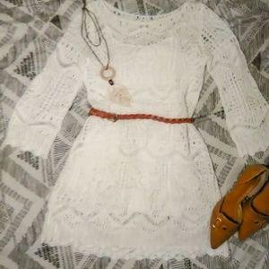 H&M Crochet Midi Dress